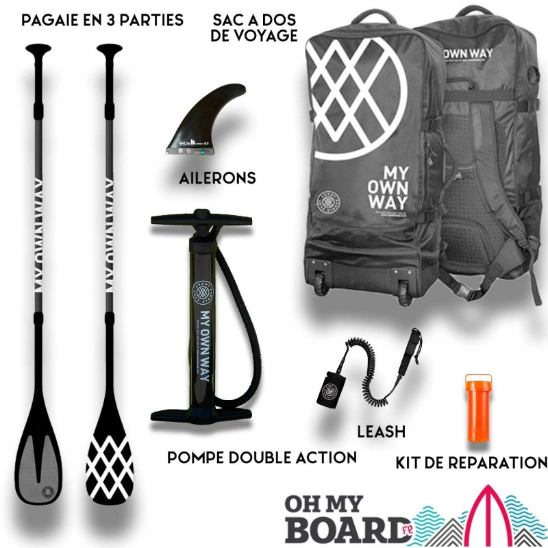 SUP Paddle gonflable Anomy Lara Costafreda Pack