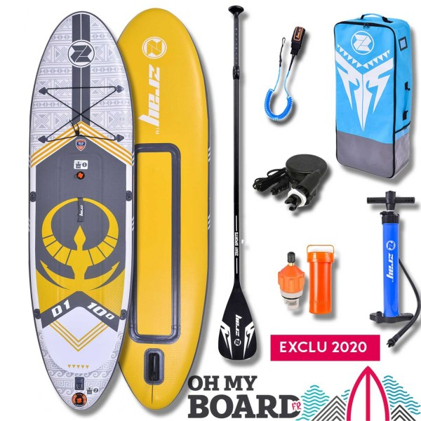 SUP Paddle gonflable Zray Dual D1 10' Pack
