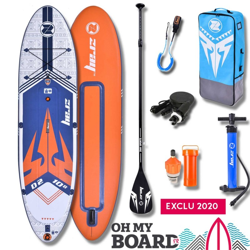 SUP Paddle gonflable Zray Dual D2 10'8 Pack