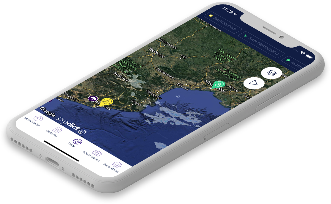 Application mobile meteo Mypredict